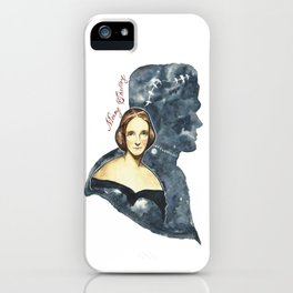 Mary Shelley portrait iPhone Case