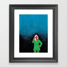 Jeg gir faen Framed Art Print