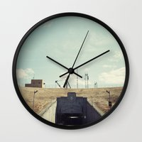 dwight schrute Wall Clocks featuring the dwight d eisenhower lock by Amanda Stockwell