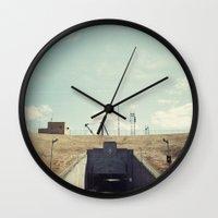dwight Wall Clocks featuring the dwight d eisenhower lock by Amanda Stockwell