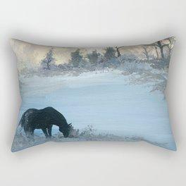 Misty Morning Mustang Rectangular Pillow