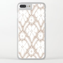 Delicate lace Clear iPhone Case
