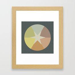Off-Aligned Babbitt Star Framed Art Print