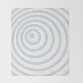 orbits - circle pattern in ice gray and white Throw Blanket