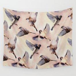 Sparrow Flight Wall Tapestry