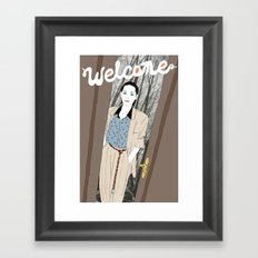 Welcome Framed Art Print