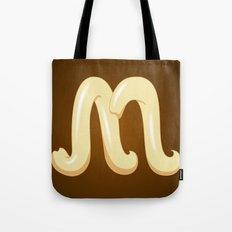 Alphabet M Tote Bag