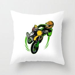 Gravity Check Dirt Bike Out Motocross Gift Cool Dirt Bike Print Throw Pillow
