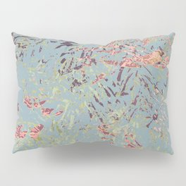 Sage Pine leaves Abstract Pattern Pillow Sham