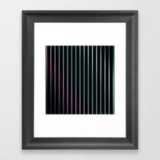 Rainbow . Striped rainbow pattern . Black background pattern Framed Art Print