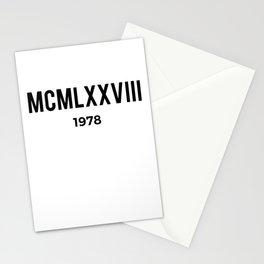 MCMLXXVIII | 1978 Birthday Shirt Stationery Cards