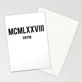 MCMLXXVIII | 1978 Birthday Shirt Stationery Cards