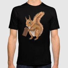 Super squirrel. Mens Fitted Tee Black MEDIUM