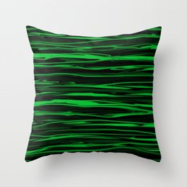 Apple Green Stripes Throw Pillow