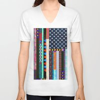 boho V-neck T-shirts featuring Boho America by Schatzi Brown
