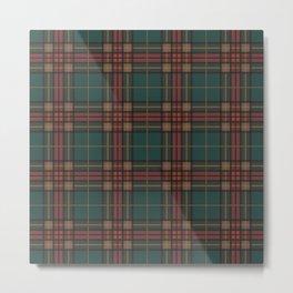 Tartan fabric, Scottish cloth Metal Print