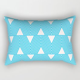 Triangles- Teal Triangle Pattern for hot summer days - Mix & Match Rectangular Pillow