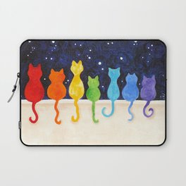 Rainbow Cats at Night Laptop Sleeve