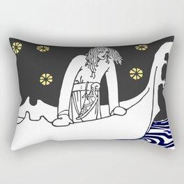 Warrior of the north Rectangular Pillow