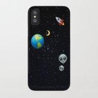 emoji iPhone & iPod Cases featuring Space Emoji by jajoão