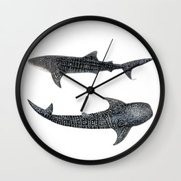 Whale sharks Wall Clock