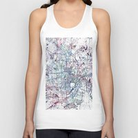 minneapolis Tank Tops featuring Minneapolis map by MapMapMaps.Watercolors
