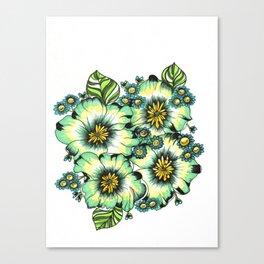 green floral bouquet  Canvas Print