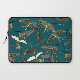 just whales blue Laptop Sleeve