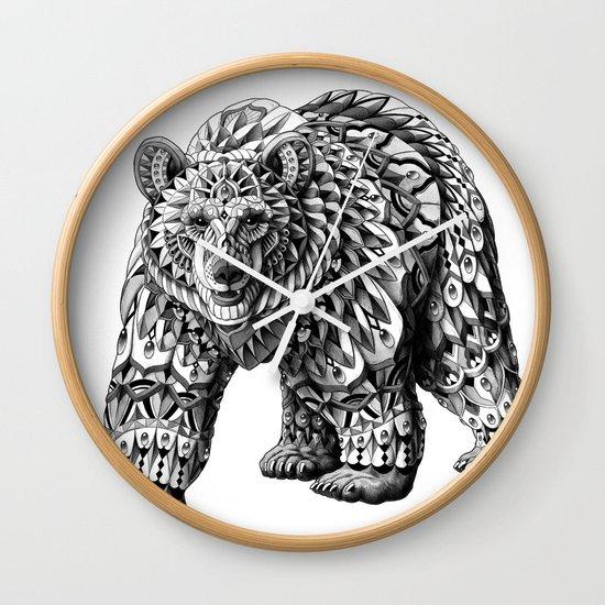Ornate Bear Wall Clock
