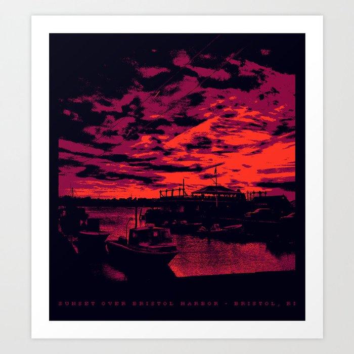Sunset Over Bristol Harbor 2 Art Print