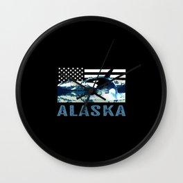 Alaskan Orca Wall Clock