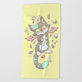 Monster Cat Beach Towel