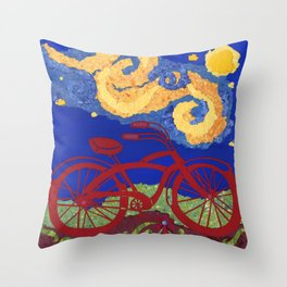 Starry Starry Ride Throw Pillow