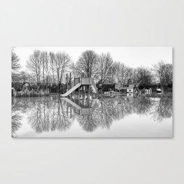 Flooded playground Canvas Print