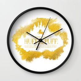 Hufflepuff Wall Clock