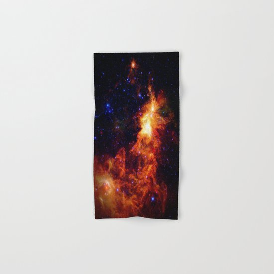 Fiery gAlAXy Indigo Stars Hand & Bath Towel