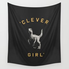 Clever Girl (Dark) Wall Tapestry