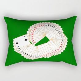 Playing Card Spread Rectangular Pillow