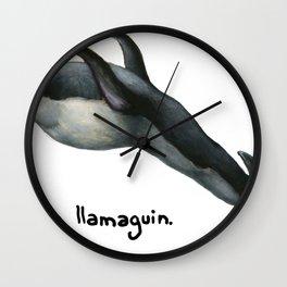 Llamaguin Wall Clock