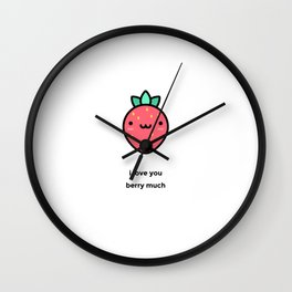 JUST A PUNNY STRAWBERRY JOKE! Wall Clock