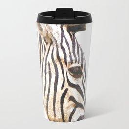 Zebra portrait Travel Mug