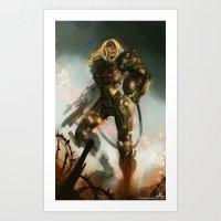 samus Art Prints featuring Samus  by Jorge Lacera