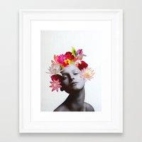 hippy Framed Art Prints featuring hippy by Federica Meli
