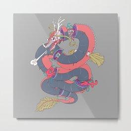 Dragon Slices Metal Print