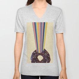 Power of donut bite Unisex V-Neck