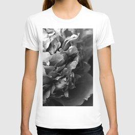Black and White Summer Peony T-shirt