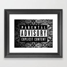90s Warning logo !! Framed Art Print