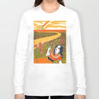 dorothy Long Sleeve T-shirts featuring Dorothy in the Poppy Field by Julia Minamata