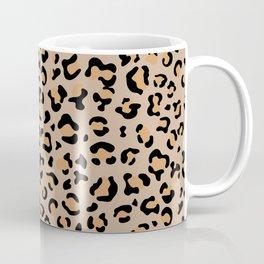 Animal Print, Spotted Leopard - Brown Black Coffee Mug