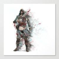 assassins creed Canvas Prints featuring Assassins Creed - Black Flag by alonnusenbaum